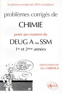 Corridashivernales.be Problèmes corrigés de chimie posés aux examens du DEUG A ou SSM, 1re et 2ème années Image