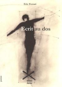 Eric Ferrari - Ecrit au dos.