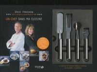 Eric Frechon et Clarisse Ferreres - Coffret Un chef dans ma cuisine - Un livre et 4 ustensiles.