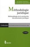 Eric Geerkens et Paul Delnoy - Méthodologie juridique - Méthodologie de la recherche documentaire.