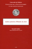Eric Gojosso - Cahiers poitveins d'Histoire du droit - Deuxième cahier.