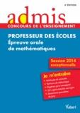Eric Greff et André Mul - Professeur des écoles - Epreuve orale de mathématiques.