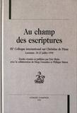 Eric Hicks - Au champ des escriptures - IIIe Colloque international sur Christine de Pizan, Lausanne, 18-22 juillet 1998.