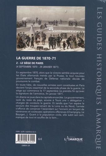 La guerre de 1870-71. Tome 2, Le siège de Paris, 4 septembre 1870 - 29 janvier 1871