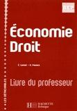Eric Lemot et N Pavaux - Economie Droit - Livre du professeur.