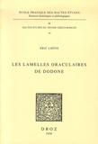 Eric Lhôte - Les lamelles oraculaires de Dodone.