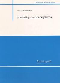 Statistiques descriptives - Eric Lombardot pdf epub