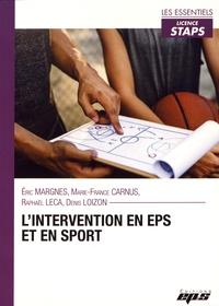 Eric Margnes et Marie-France Carnus - L'intervention en EPS et en sport.