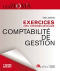 Eric Maton - Comptabilité de gestion - Exercices avec corrigés détaillés.