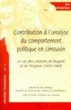 Eric Moratille - Contribution à l'analyse du comportement politique en Limousin - Le cas des cantons de Bugeat et de Treignac (1870-1989).