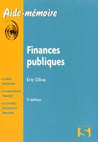 Eric Oliva - Finances publiques.