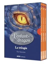 Eric Sanvoisin et Jérémie Fleury - L'enfant-dragon La trilogie : Tome 1, La première flamme ; Tome 2, Le Grand Livre de la Nuit ; Tome 3, Le fils de l'eau et du feu.