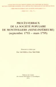 Galabria.be Procès-verbaux de la Société populaire de Montivilliers (Seine-Inférieure) (septembre 1793 - mars 1795) Image