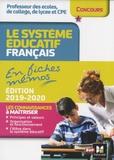 Eric Tisserand - Concours enseignement - Le système éducatif français en fiches mémos - 2019-2020 - Révision.