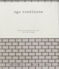 Eric Troncy - Ugo Rondinone - How does it feel? Sunrise, 2 volumes.