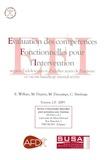 Eric Willaye et Monique Deprez - Evaluation des compétences Fonctionnelles pour l'Intervention (EFI) - Auprès d'adolescents et d'adultes ayant de l'autisme et/ou un handicap mental sévère.