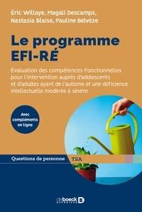 Eric Willaye et Magali Descamps - Le programme EFI-RÉ - Évaluation des compétences Fonctionnelles pour l'Intervention auprès d'adolescents et d'adultes ayant de l'autisme et une déficience intellectuelle modérée à sévère.