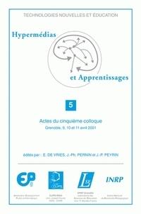 Erica De Vries et Jean-Philippe Pernin - Hypermédias et apprentissages - Actes du cinquième colloque, Grenoble, 9, 10 et 11 avril 2001.