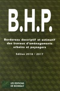Erick Roizard - BHP - Bordereau descriptif des travaux d'aménagements urbains et paysagers.