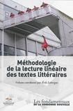 Erik Leborgne - Méthodologie de la lecture linéaire des textes littéraires.