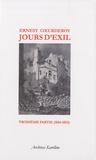 Ernest Coeurderoy - Jours d'Exil - Tome 3, 1854-1855.