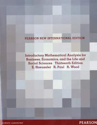 Ernest F. Haeussler et Richard S. Paul - Introductory Mathematical Analysis for Business, Economics, and the Life and Social Sciences.