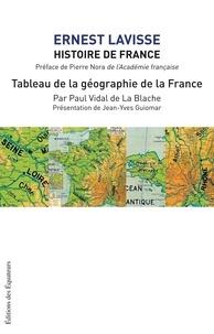 Ernest Lavisse - Histoire de France - Tome 1, Tableau de la géographie de la France.