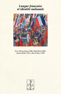 Ernest Renan et Michel Bréal - Langue française et identité nationale.