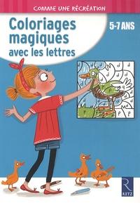 Ernest Robert - Coloriages magiques avec les lettres - 5-7 ans.