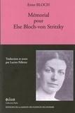 Ernst Bloch - Mémorial pour Else Bloch-von Stritzky.