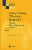 Ernst Hairer et Gerhard Wanner - Solving Ordinary Differential Equations 2 - Stiff and Differential-Algebraic Problems.