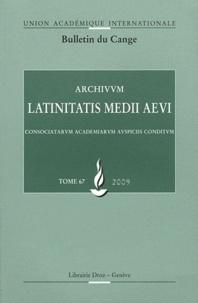Giovanni Polara - Archivum Latinitatis Medii Aevi N° 67/2009 : .