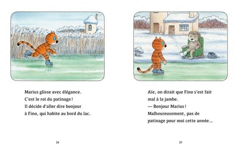 Marius le chat  Le roi du patinage