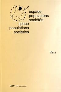 Frédéric Dumont - Espace Populations Sociétés N° 2011-2 : Varia.