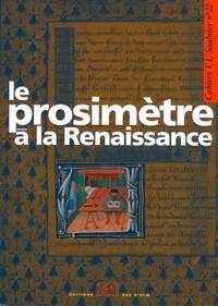 Estelle Doudet et François Cornilliat - Le prosimètre à la Renaissance.