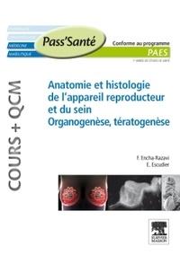 Estelle Escudier et Férechté Encha-Razavi - Anatomie et histologie de l'appareil reproducteur et du sein - Organogenèse et tératogenèse.
