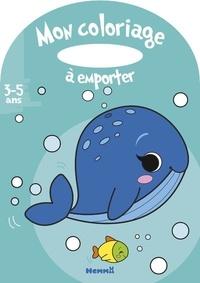 Estelle Madeddu - Mon coloriage à emporter Baleine.