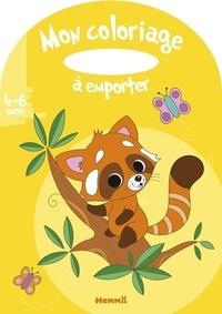 Estelle Madeddu - Mon coloriage à emporter Panda roux.