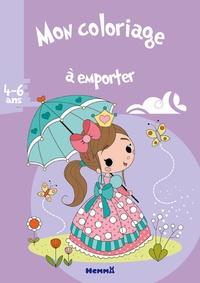 Coloriage Princesse Tresse.Mon Coloriage A Emporter Princesse Parapluie Estelle Madeddu