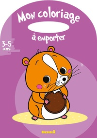 Estelle Madeddu - Mon coloriage à emporter - Hamster.