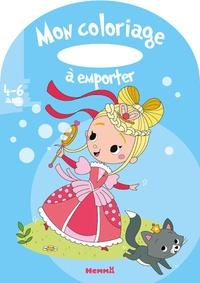 Estelle Madeddu - Mon coloriage à emporter - Princesse-bulles de savon.