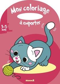 Estelle Madeddu - Mon coloriage à emporter - Chat.