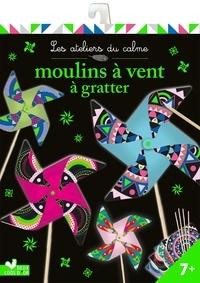 Estelle Tchatcha - Moulins à vent à gratter - Avec 4 cartes à gratter, 4 tiges en bois, 4 attaches en plastique et 1 stylet en bois.