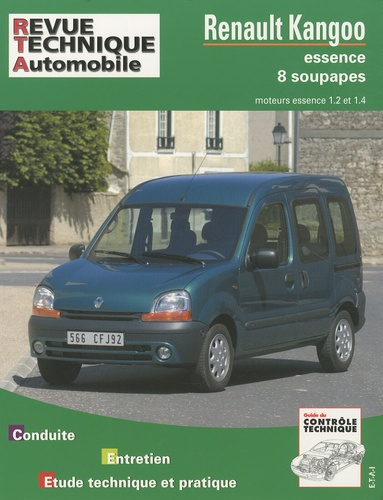 Revue technique automobile - Renault Kangoo essence 1,2 et 1,4 (8 soupapes).