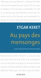 Etgar Keret - Au pays des mensonges.