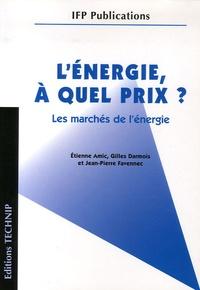 Etienne Amic et Gilles Darmois - L'énergie, à quel prix ? - Les marchés de l'énergie.