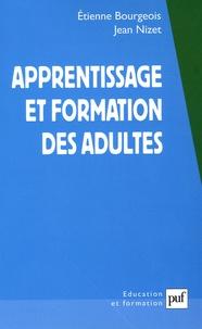 Etienne Bourgeois et Jean Nizet - Apprentissage et formation des adultes.