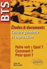 Etienne Calais et Guillaume Bardet - Faire voir : Quoi ? Comment ? Pour quoi ? - Etudes et documents Culture générale et expression BTS.