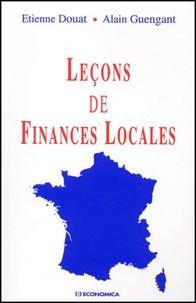 Leçons de finances locales - Etienne Douat |