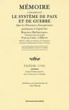 Etienne-Félix Hénin de Cuvillers - Mémoire concernant le système de paix et de guerre que les puissances européennes pratiquent à l'égard des régences barbaresques.